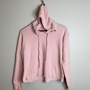 """American Eagle blush pink """"Ahh-mazingly soft"""" baggy cropped hoodie Size Small"""